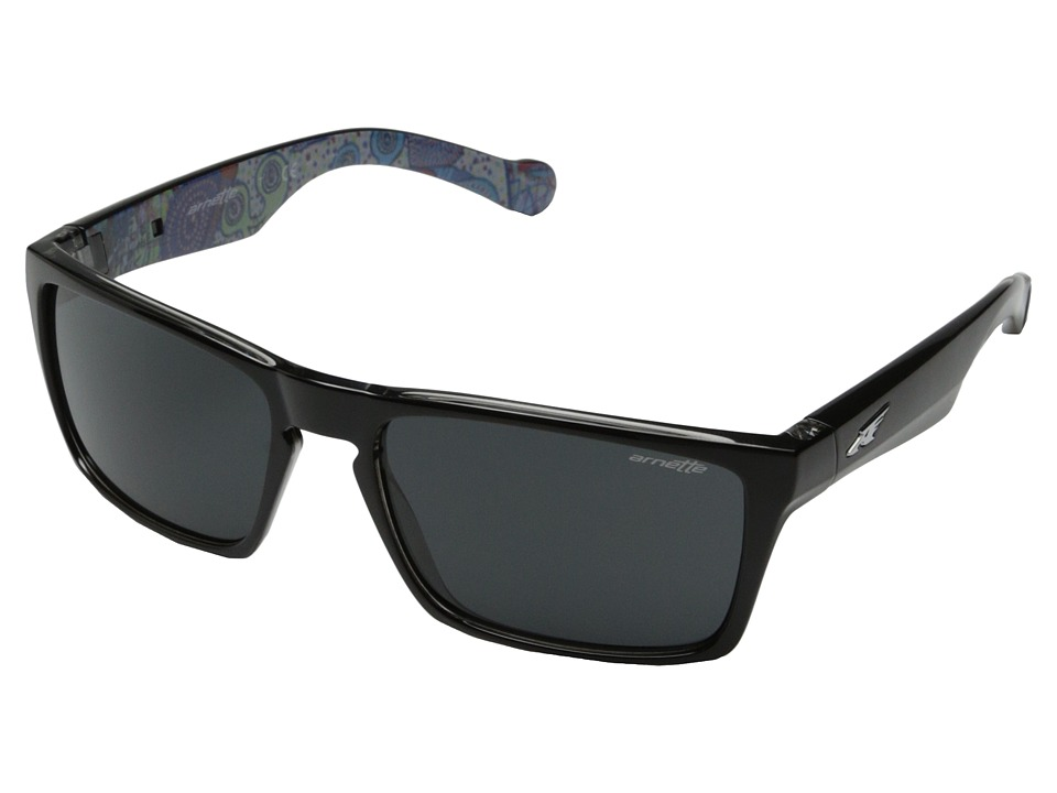 Arnette - Specialist (Black On Translucent Clear/Black Sticky Art Graphics/Fuzzy Trans) Fashion Sunglasses