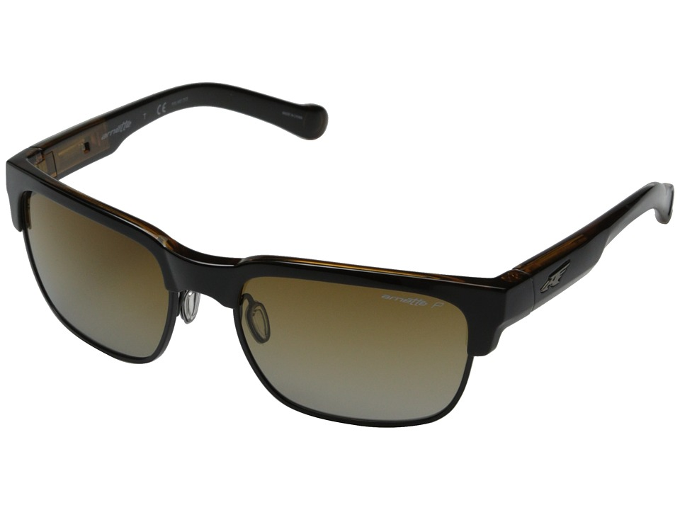 Arnette - Dean (Black On Transparent Amber/ Black Wire/Black On Transparent Ambe) Fashion Sunglasses