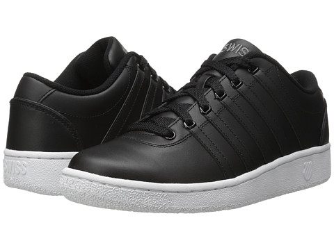 K-Swiss - Court LX (Black/White Leather) Men's Shoes