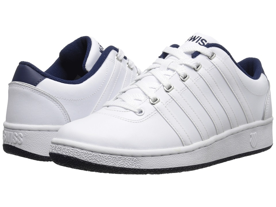 K-Swiss - Court LX (White/Navy Leather) Men's Shoes