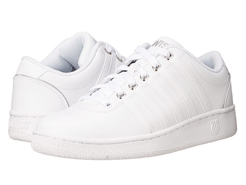 K-Swiss - Court LX (White/Silver Leather) Men's Shoes