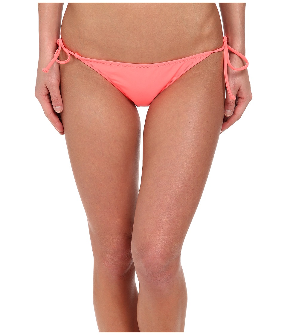 Volcom - Simply Solid Skimpy Side Tie Bottom (Electric Coral) Women's Swimwear