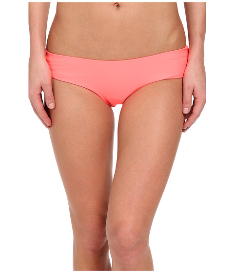 Volcom - Simply Solid Cheeky Fit Bottom (Electric Coral) Women