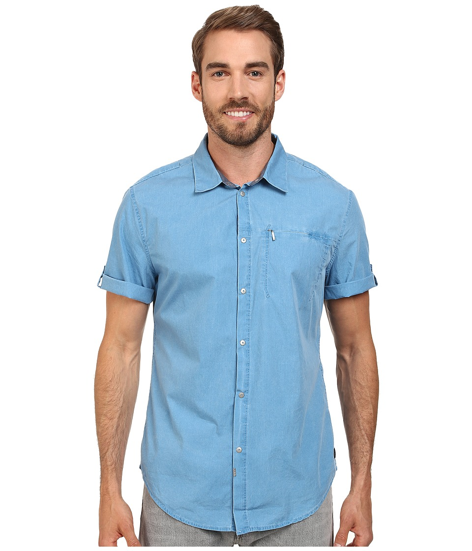 Calvin Klein Jeans - Pigment Utility Shirt (Han Blue) Men's Clothing