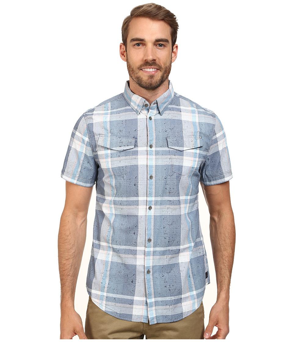 Calvin Klein Jeans - Blotch Print Plaid (Blue Depths) Men's Clothing