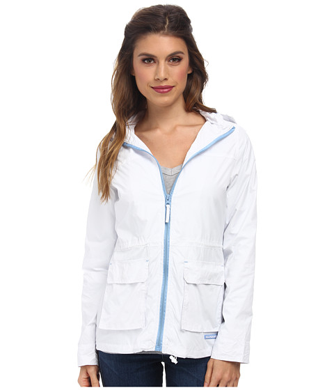 U.S. POLO ASSN. - Hooded Anorak Jacket (Optic White) Women's Coat