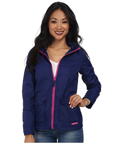 U.S. POLO ASSN. - Hooded Anorak Jacket (Marina Blue) Women's Coat