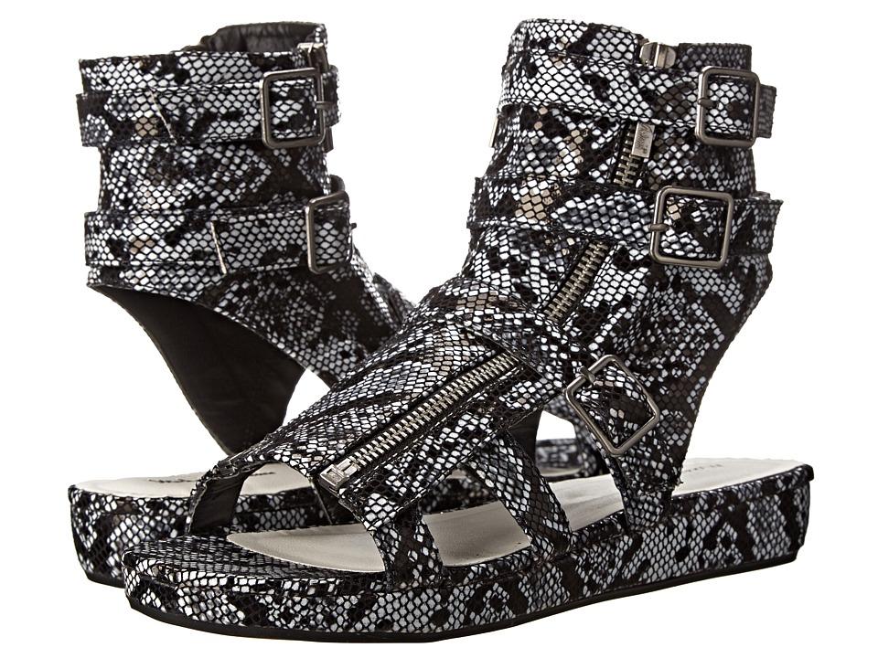 Michael Antonio - Darla Snake (Black Snake PU) Women's Wedge Shoes