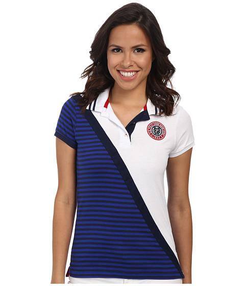 U.S. POLO ASSN. - Diagonal Color Block Polo (Tribal Navy) Women