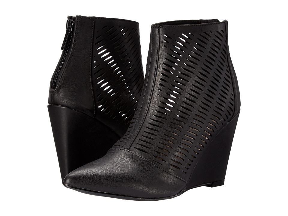 Michael Antonio - Cindy (Black Brush PU) Women's Wedge Shoes