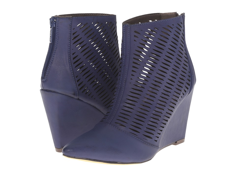 Michael Antonio - Cindy (Midnight Brush PU) Women's Wedge Shoes