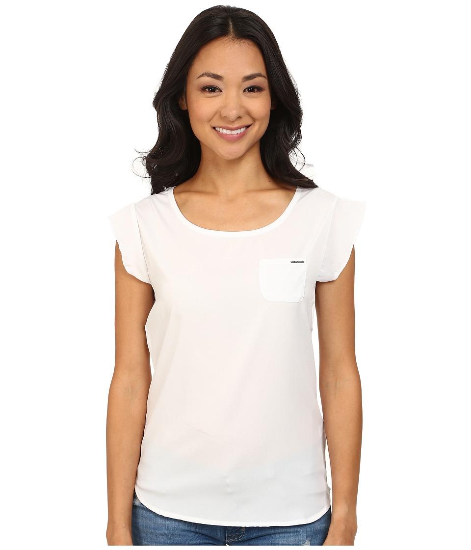U.S. POLO ASSN. - Crepe De Chine T-Shirt (Optic White) Women