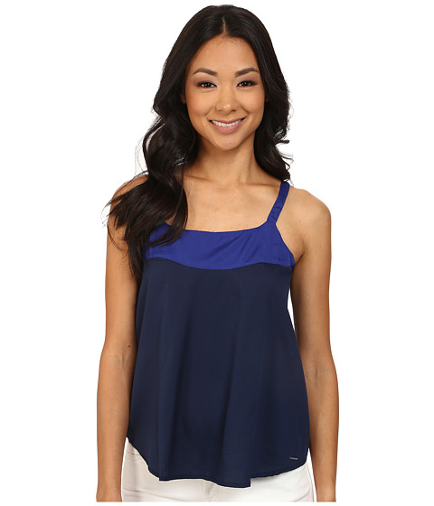 U.S. POLO ASSN. - Crepe De Chine Tank Top (Tribal Navy) Women