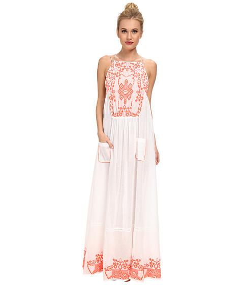 KAS New York - Kerane Embroidered Maxi (White) Women