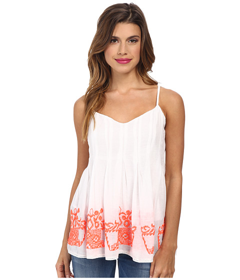 KAS New York - Mali Embroidered Babydoll (White) Women's Sleeveless