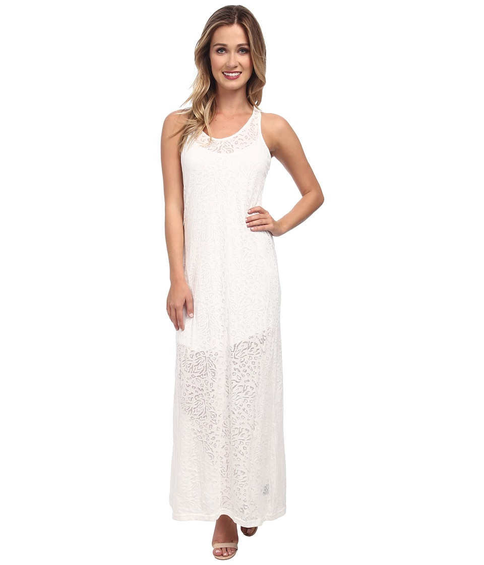 KAS New York - Coco Leopard Burnout Maxi (White) Women's Dress