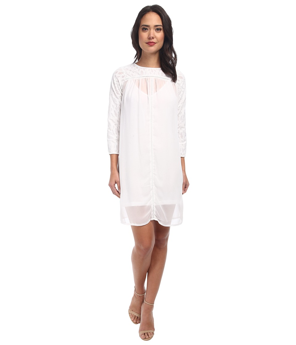 KAS New York Cutwork Swing Dress (White) Women