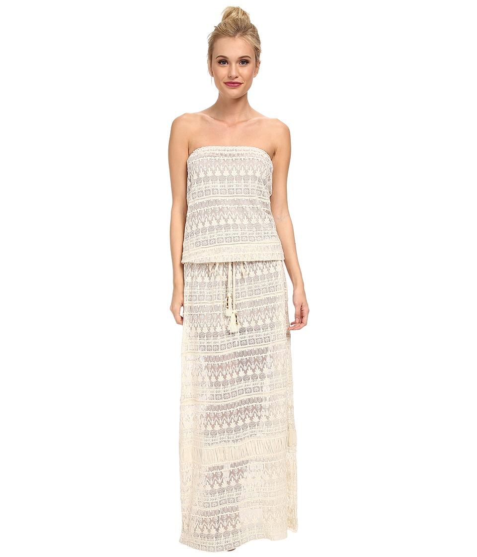 KAS New York Klahan Embroidered Maxi Dress (Natural) Women