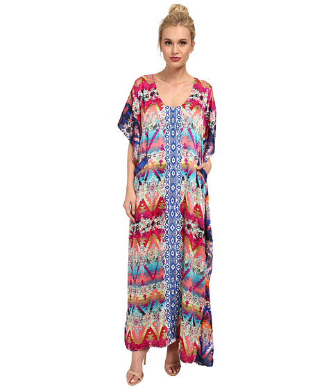 KAS New York - Kendra Embroidered Kaftan (Multi) Women