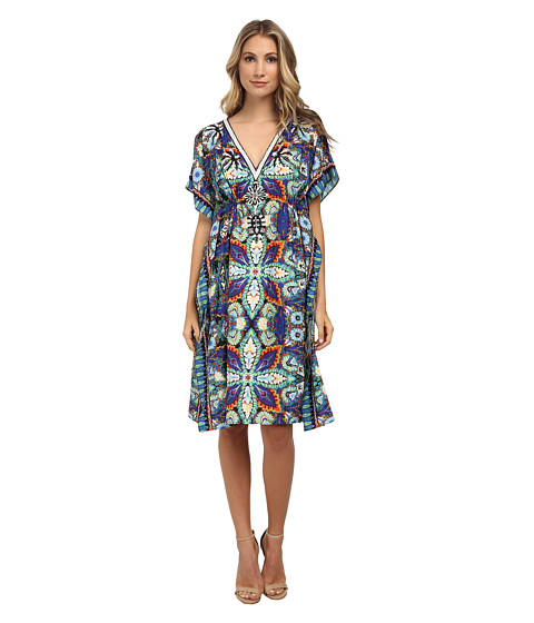 KAS New York - Habibu Beaded Kaftan (Multi) Women's Dress