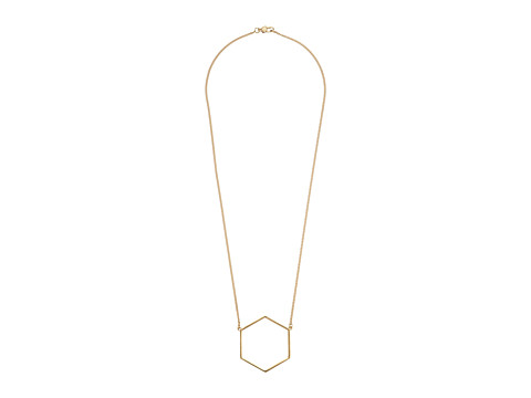 Marc by Marc Jacobs - Lost Found Hexagon Pendant Necklace (Oro) Necklace
