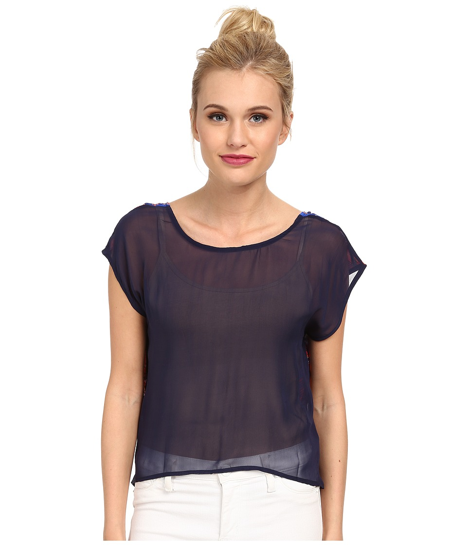 KAS New York - Salome V-Back Tee (Multi) Women's T Shirt