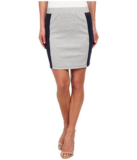 U.S. POLO ASSN. - Ponte Pencil Skirt (Heather Grey) Women