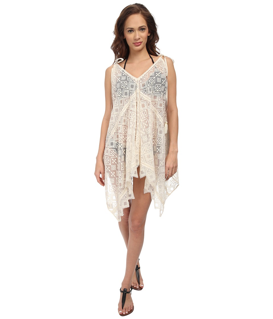KAS New York - Zulakia Embroidered Hankerchief Cover-Up (Natural) Women's Swimwear