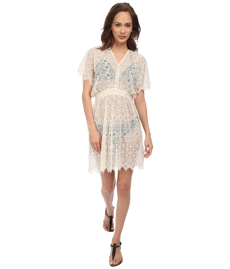 KAS New York - Aleona Embroidered Cover-Up (Natural) Women's Swimwear
