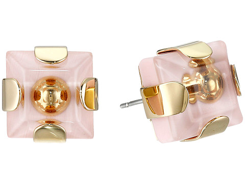 Marc by Marc Jacobs - Kandi Square Studs Earrings (Pink Flower) Earring