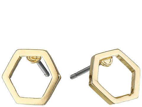 Marc by Marc Jacobs - Lost Found Hexagon Studs Earrings (Oro) Earring