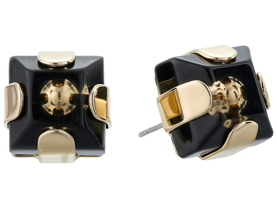 Marc by Marc Jacobs - Kandi Square Studs Earrings (Black) Earring