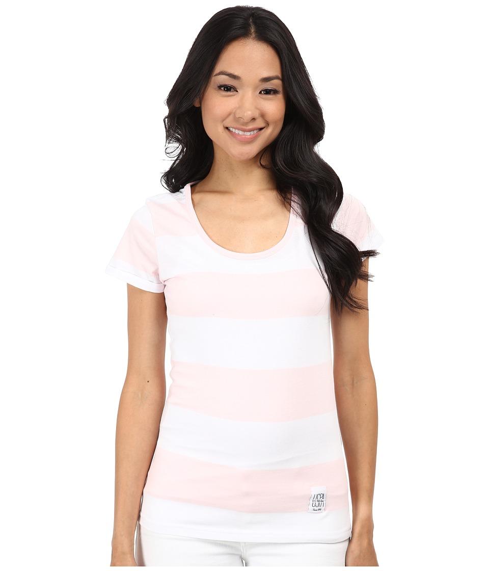 U.S. POLO ASSN. - Wide Stripe T-Shirt (Coastal Pink) Women