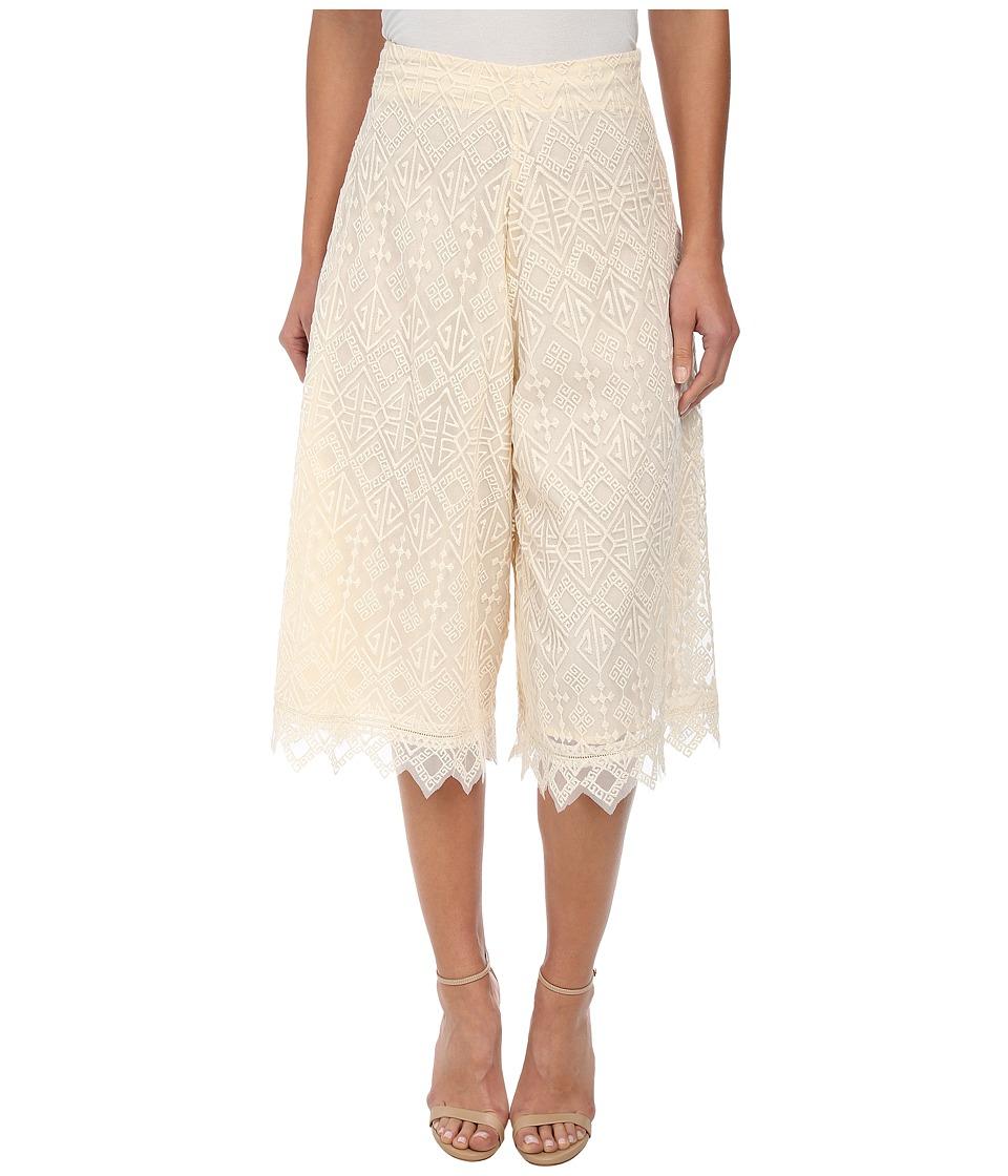 KAS New York - Bedri Embroidered Culotte (Natural) Women's Skirt