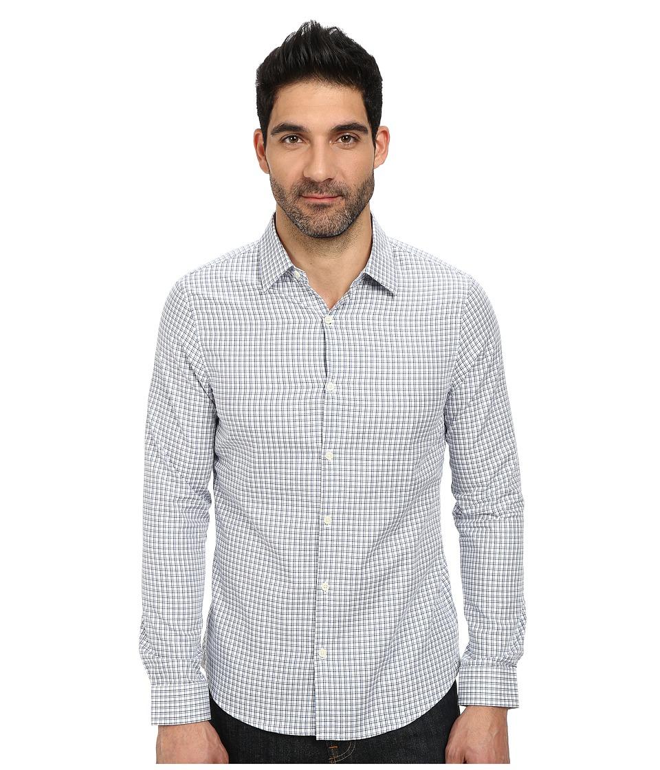 Michael Kors - Brad Checked Slim Shirt (Ocean) Men