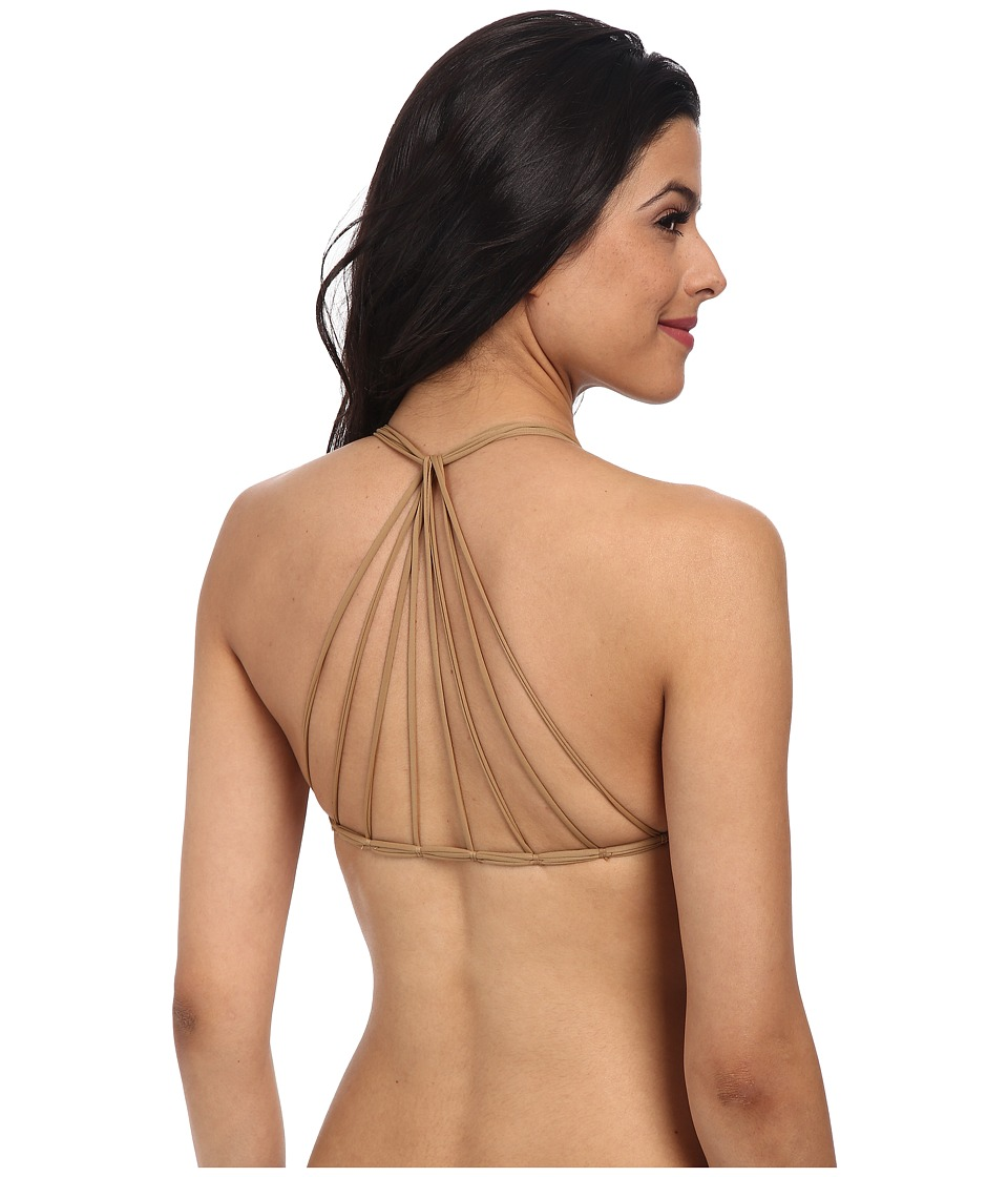 MIKOH SWIMWEAR - Banyans Multi String Racerback Top (Kava) Women