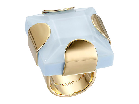 Marc by Marc Jacobs - Kandi Square Ring (Cloud Blue) Ring