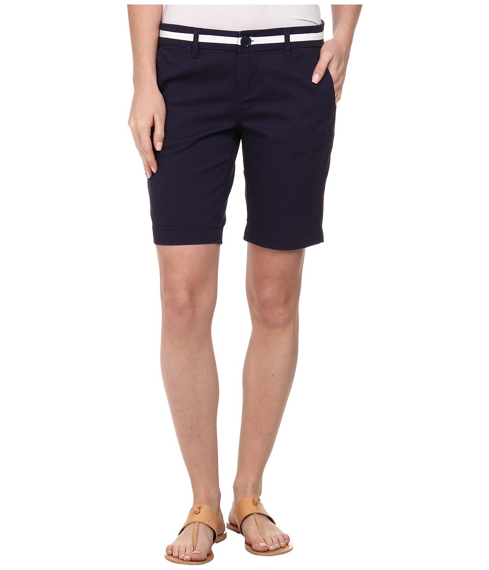 U.S. POLO ASSN. - Twill Belted Shorts (Tribal Navy) Women's Shorts