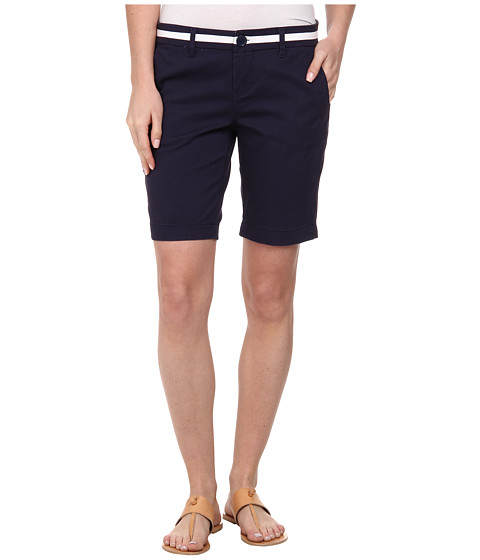 U.S. POLO ASSN. - Twill Belted Shorts (Tribal Navy) Women