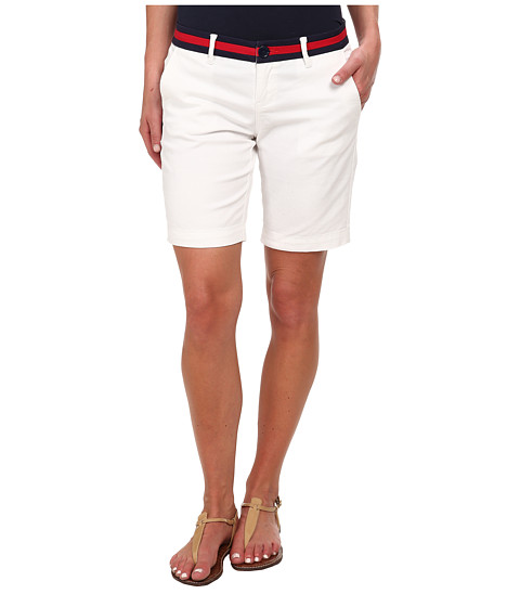 U.S. POLO ASSN. - Twill Belted Shorts (Optic White) Women
