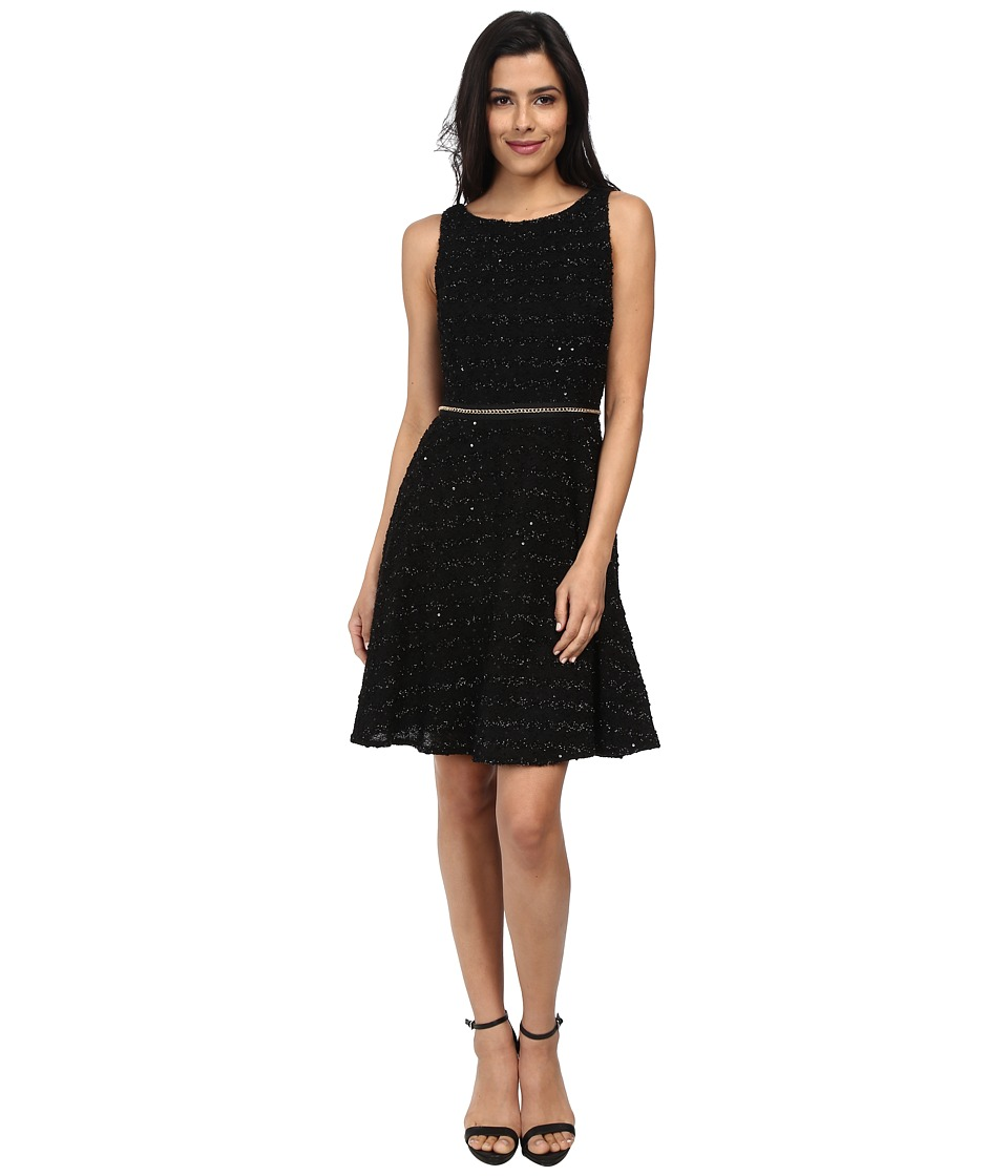Vince Camuto - Fit and Flare Boucle Dress (Black) Women's Dress