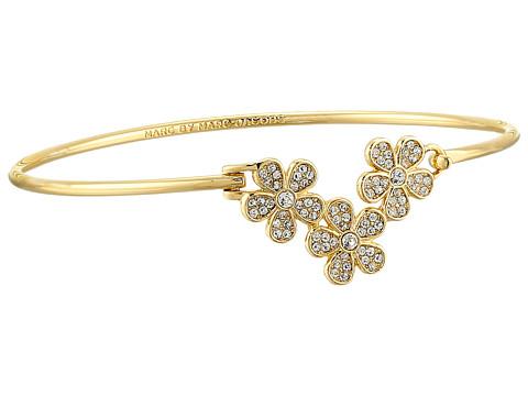 Marc by Marc Jacobs - Pave Daisy Hinge Cuff Bracelet (Crystal/Oro) Bracelet