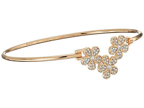 Marc by Marc Jacobs - Pave Daisy Hinge Cuff Bracelet (Crystal/Rose Gold) Bracelet