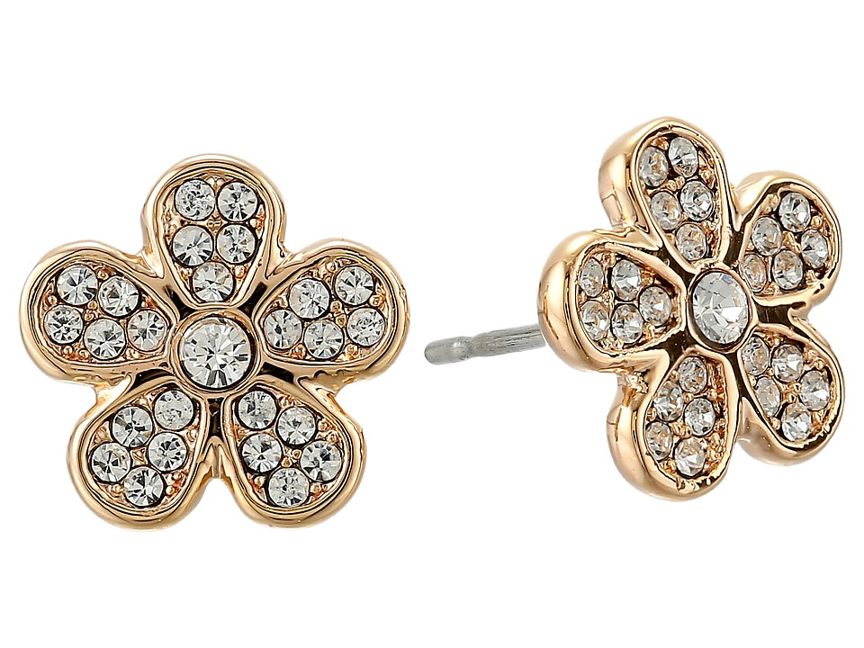Marc by Marc Jacobs - Pave Daisy Studs Earring (Crystal/Rose Gold) Earring