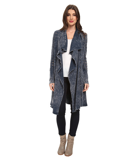 XCVI - Abernathy Draped Coat (Direct Dye Acid Wash) Women