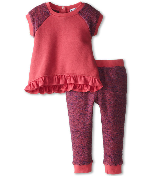 Splendid Littles - Active Pant Set (Infant) (Coral) Girl's Casual Pants