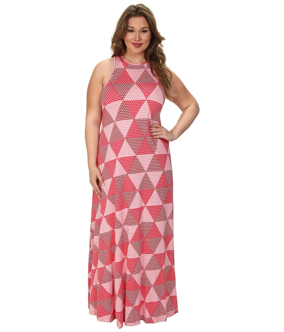 Rachel Pally Plus - Plus Size Marieke Dress White Label Print (Wildberry Hexagon) Women's Dress