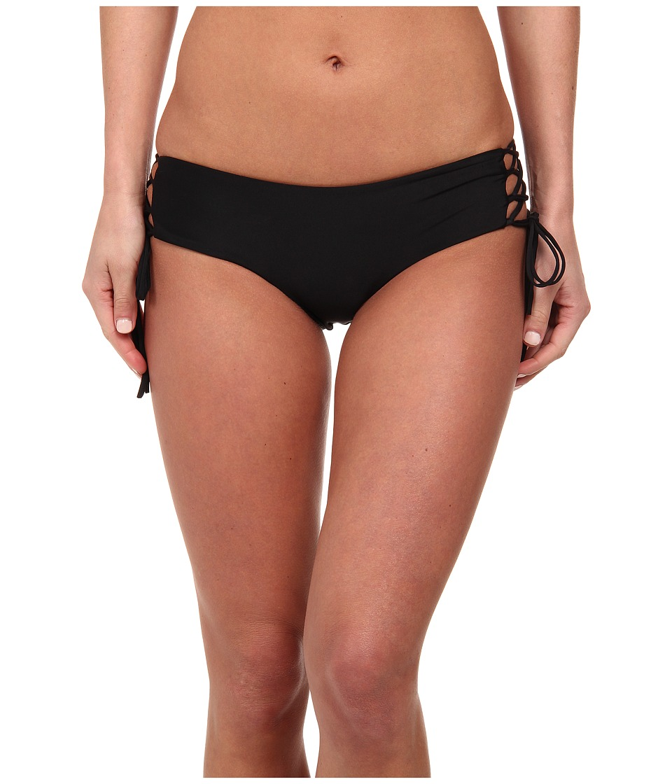 MIKOH SWIMWEAR - Vanuatu Side Lace Up Detail Boyshort Bottom (Night) Women's Swimwear