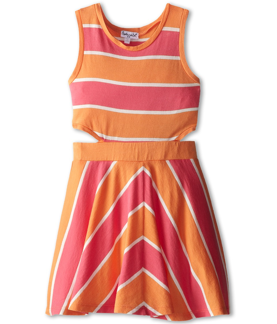 Splendid Littles - Classic Stripe Dress (Little Kids) (Coral) Girl's Dress