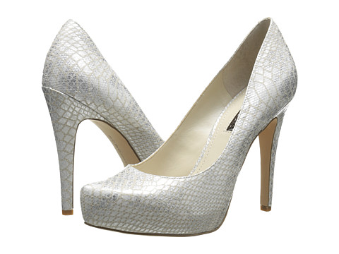 BCBGeneration - Parade (Silver Multi Irridecent Snake) High Heels